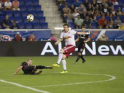 September 27, 2017 - Harrison, New Jersey, United States - Alex Muyl (19) of Red Bulls shot on goal during regular MLS game against DC United at Red Bull Arena Game ended in draw 3 - 3 (Credit Image: © Lev Radin/Pacific Press via ZUMA Wire)