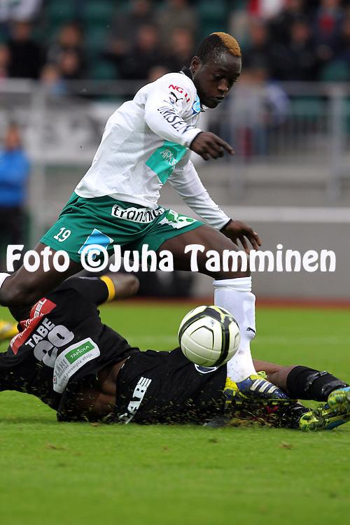 2.9.2012, Wiklof Holding Arena, Mariehamn / Maarianhamina..Veikkausliiga 2012..IFK Mariehamn - Kuopion Palloseura..Saihou Jagne - IFK Mhamn