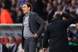 23.10.2012, Grand Stade Lille Metropole, Lille, OSC Lille vs FC Bayern Muenchen, im Bild Rudi GARCIA (Trainer OSC Lille) enttaeuscht, frustriert, Entaeuschung, Frust // during UEFA Championsleague Match between Lille OSC and FC Bayern Munich at the Grand Stade Lille Metropole, Lille, France on 2012/10/23. EXPA Pictures © 2012, PhotoCredit: EXPA/ Eibner/ Ben Majerus..***** ATTENTION - OUT OF GER *****