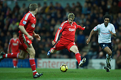 PRESTON, ENGLAND - Saturday, January 3, 2009: Liverpool's Fernando Torres and Preston North End's Youl Mawene during the FA Cup 3rd Round match at Deepdale. (Photo by David Rawcliffe/Propaganda)