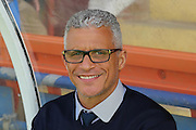 Carlisle United Manager Keith Curle during the Sky Bet League 2 match between York City and Carlisle United at Bootham Crescent, York, England on 19 September 2015. Photo by Simon Davies.