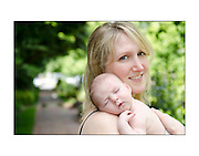 Creative Custom Portraiture by Maria Rock Photography, Mom and baby, newborn photograph, summer, sunshine
