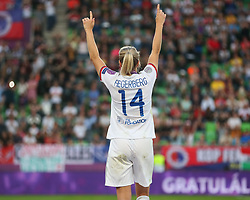 May 18, 2019 - Budapest, Hungary - Ada Hegerberg of Olympique Lyonnais wave to the her Fans..during the UEFA Women's Champions League Final between Olympique Lyonnais and FC Barcelona Women at Groupama Arena on May 18, 2019 in Budapest, Hungary  (Credit Image: © Action Foto Sport/NurPhoto via ZUMA Press)