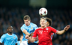 MANCHESTER, ENGLAND - Wednesday, October 2, 2013: Bayern Munich Bastian Schweinsteiger in action against Manchester City during the UEFA Champions League Group D match at the City of Manchester Stadium. (Pic by David Rawcliffe/Propaganda)