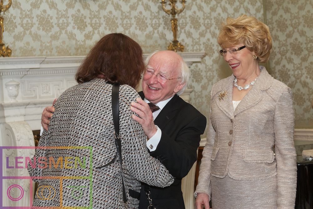 President of Ireland, Michael Higgins,<br /> speek to the Diplomatic Corps<br /> on the occasion of the presentation<br /> of New Year&rsquo;s Greetings at &Aacute;ras an Uachtar&aacute;in, Dublin Ireland.<br /> Tuesday 22nd January, 2013