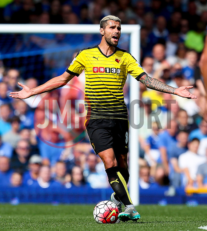 Watford's Valon Behrami appeals to the referee - Mandatory byline: Matt McNulty/JMP - 07966386802 - 08/08/2015 - FOOTBALL - Goodison Park -Liverpool,England - Everton v Watford - Barclays Premier League