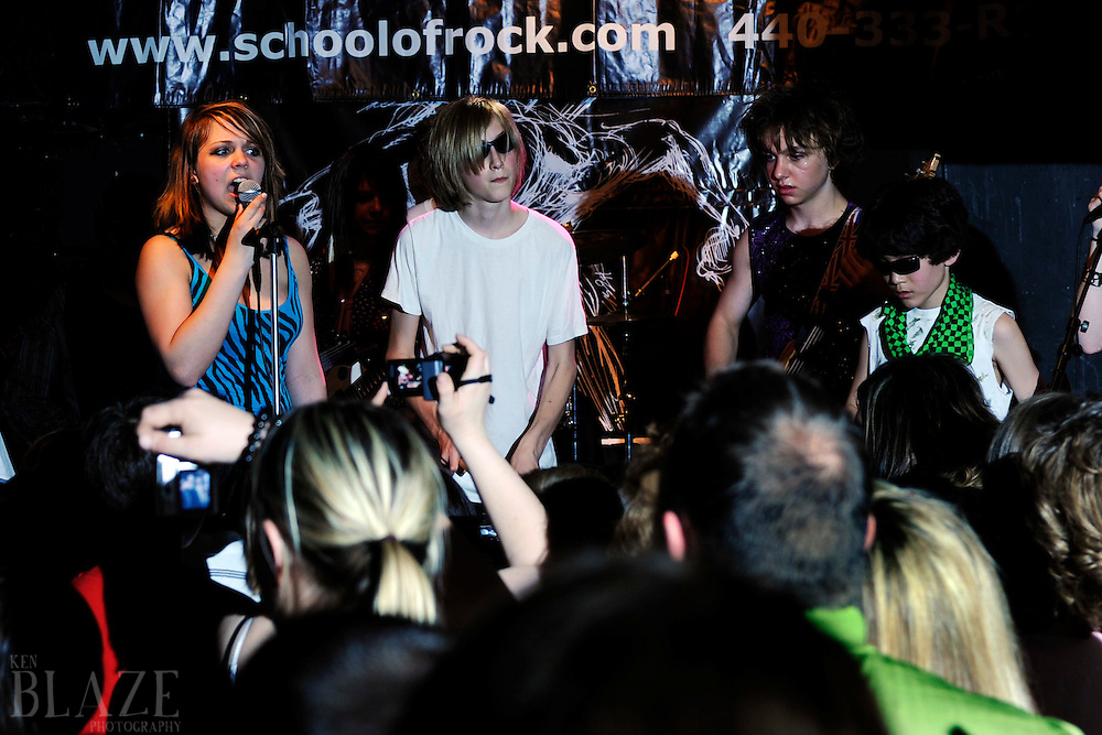 West Side School of Rock.April 25, 2009.&quot;Glam&quot; Show West Side School of Rock GLAM Show<br /> Hi-FI Club<br /> Lakewood, OH<br /> April 24, 2009<br /> Photo by Ken Blaze