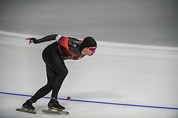 February 23, 2018 - Pyeongchang, Gangwon, South Korea - Alexandre St-Jean of  Canada .at 1000 meter speedskating at winter olympics, Gangneung South Korea on February 23, 2018. (Credit Image: © Ulrik Pedersen/NurPhoto via ZUMA Press)