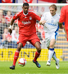 BIRKENHEAD, ENGLAND - Saturday, July 12, 2008: Liverpool's Damien Plessis during his side's first pre-season match of the 2008/2009 season against Tranmere Rovers at Prenton Park. (Photo by David Rawcliffe/Propaganda)