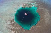 Blue Hole in Ocean
