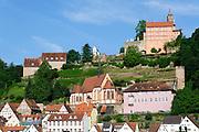 Altstadt und Schloss Hirschhorn, Hirschhorn, Neckar, Hessen, Deutschland | Old Town and Castle, Hirschhorn, Neckar, Hessen, Germany