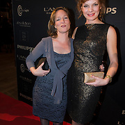 NLD/Amsterdam/20140311 - Modeshow Addy van den Krommenacker 2014, Prinses Margarita de Bourbon de Parme en Janna Fassaert