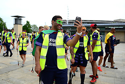 Siale Piutau ofBristol Rugby supports Bristol City Council's Clean Streets campaign on Mandela Day by helping cleaning the streets at Millennium Square - Mandatory by-line: Dougie Allward/JMP - 18/07/2017 - FOOTBALL - Millennium Square - Bristol, England - Mandella Day Bristol Rugby