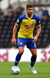 """Southampton's Jack Stephens during a pre season friendly match at Pride Park, Derby. PRESS ASSOCIATION Photo. Picture date: Saturday July 21, 2018. Photo credit should read: Anthony Devlin/PA Wire. EDITORIAL USE ONLY No use with unauthorised audio, video, data, fixture lists, club/league logos or """"live"""" services. Online in-match use limited to 75 images, no video emulation. No use in betting, games or single club/league/player publications."""