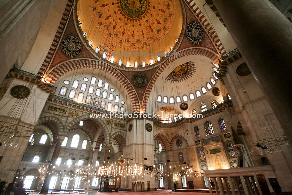 Interior of a mosque, Istanbul, Turkey