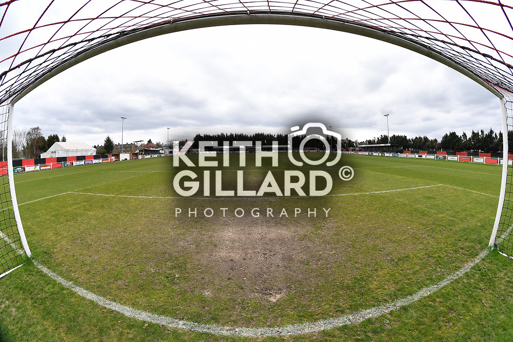 Greenwich Borough v Hythe Town, Bostik Football League - South Division, DGS Marine Stadium, 7 April  2018. <br /> <br /> <br /> Image by Keith Gillard