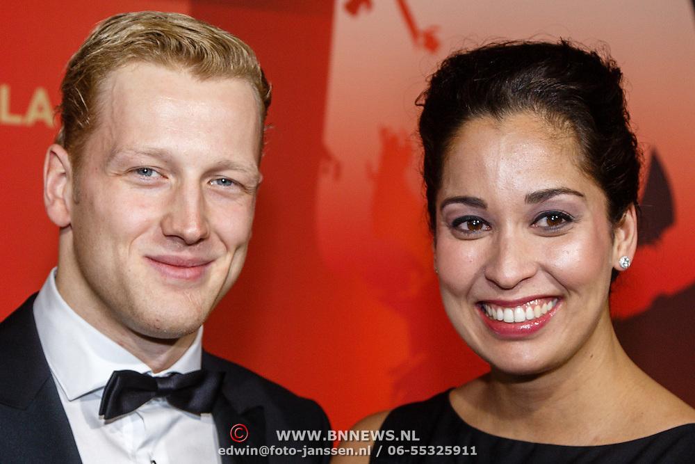 NLD/Amsterdam/20151215 - NOC / NSF Sportgala 2015, Ranomi Kromowidjojo en partner Ferry Weertman