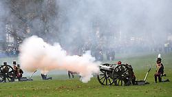February 6, 2018 - London, London, United Kingdom - 41-Gun Salute. (Credit Image: © Pete Maclaine/i-Images via ZUMA Press)