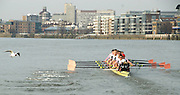 London, Great Britain. Oxford, OUBC [Blue Boat],  v. Leander Club. Leander Club lead Oxford,  Pre Boat race fixture over the Championship Course  River Thames. Single race piece - Putney to Chiswick Pier.  on Saturday  12/03/2011 [Mandatory Credit; Karon Phillips/Intersport Images]..Crews:.Oxford OUBC: Bow Moritz HAFNER, Ben MYERS, Dave WHIFFIN,  Ben ELLISON,  Karl HUDSPITH,  Alec DENT,  George WHITTAKER, Stroke Constantine LOULOUDIS, Cox Sam WINTER-LEVY. ..Leander: Bow Oliver HOLT,  Will GRAY,  Graham HALL,  John CLAY,  James ORME,  Tom CLARK,  Ben DUGGAN, Stroke David LAMBOURN, Cox Alex OLIJNYK..