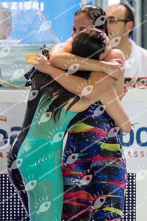 Sara Franceschi, Luisa Trombetti<br /> 400 Misti Finale<br /> Stadio del Nuoto Riccione<br /> Campionati Italiani Nazionali Assoluti Nuoto Primaverili Fin <br /> Riccione Italy 21-04-2016<br /> Photo &copy; Andrea Masini/Deepbluemedia/Insidefoto