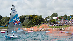 2012 Olympic Games London / Weymouth<br /> Finn Medal Race<br /> Ainslie Ben, (GBR, Finn)