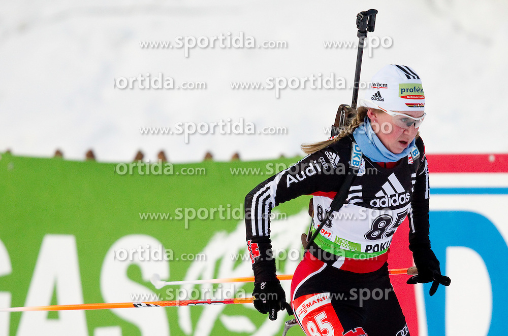 Juliane Doell of Austria during the Women 15 km Individual of the e.on IBU Biathlon World Cup on Thursday, December 16, 2010 in Pokljuka, Slovenia. The fourth e.on IBU World Cup stage is taking place in Rudno Polje - Pokljuka, Slovenia until Sunday December 19, 2010.  (Photo By Vid Ponikvar / Sportida.com)