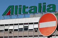 """Rome, Italy 28/04/2004: Headquarters of the Italian airline company """"Alitalia"""", Fiumicino Airport """"Leonardo da Vinci"""".©Andrea Sabbadini"""