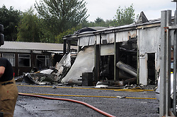 Scene of the fire at Woodend Cowdenbeath<br /> <br /> (c) David Wardle