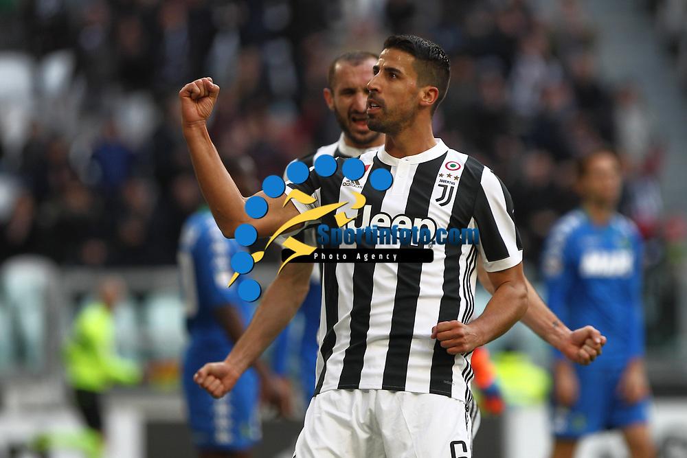 04.02.2018 - Torino - Serie A 2017/18 - 23a giornata  -  Juventus-Sassuolo nella  foto: Sami Khedira esulta dopo il gol