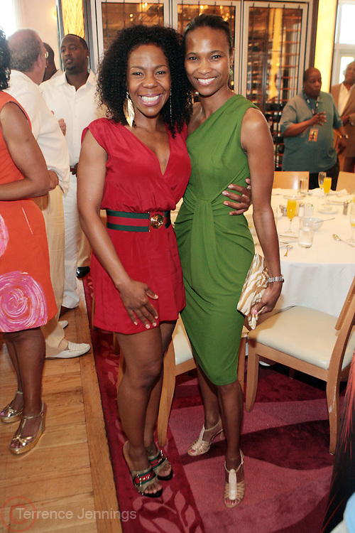 8 July 2011- Miami Beach, Florida- l to r: Andrea Kelly and Nicole Friday at Film Life's  2011 American Black Film Festival Founders Brunch held at Emeril's on July 8, 2011 in Miami Beach. Photo Credit: Terrence Jennings