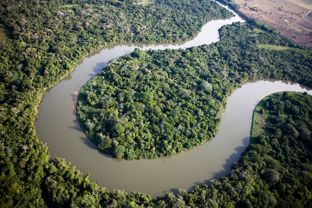Fazenda (ranch) Sepotuba, on the margin of Paraguay river, Mato Grosso, Brazil, August 8, 2008..Daniel Beltra/Greenpeace