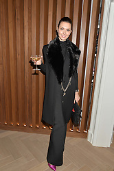 OLGA STEPP at a private view of Stephen Webster's new White Kite collection held at his flagship store at 130 Mount Street, London on 24th November 2016.