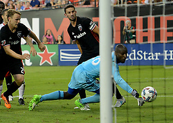 August 5, 2017 - Washington, DC, USA - 20170805 - D.C. United goalkeeper BILL HAMID (28) can't stop a deflection by D.C. United defender STEVE BIRNBAUM (15), center back, from becoming an own goal in the second half against Toronto FC at RFK Stadium in Washington. (Credit Image: © Chuck Myers via ZUMA Wire)
