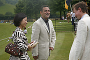 Mr. and Mrs. Guy Leymarie, Guy Leymarie and Tara Getty host The De Beers Cricket Match. The Lashings Team versus the Old English team. Wormsley. ONE TIME USE ONLY - DO NOT ARCHIVE  © Copyright Photograph by Dafydd Jones 66 Stockwell Park Rd. London SW9 0DA Tel 020 7733 0108 www.dafjones.com