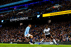 Ryan Sessegnon of Fulham takes on Gabriel Jesus of Manchester City - Mandatory by-line: Robbie Stephenson/JMP - 01/11/2018 - FOOTBALL - Etihad Stadium - Manchester, England - Manchester City v Fulham - Carabao Cup