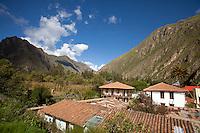 El Albergue Ollantaytambo Hotel in town of Ollantaytambo, Sacred Valley, Peru.