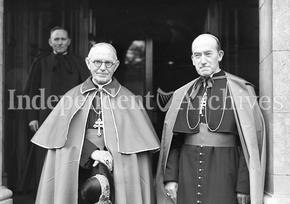 Cardinal Dalton and Arch Bishop McQuaid. (Part of the Independent Ireland Newspapers/NLI Collection)