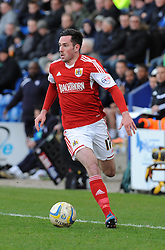 Bristol City's Greg Cunningham - Photo mandatory by-line: Dougie Allward/JMP - Mobile: 07966 386802 22/03/2014 - SPORT - FOOTBALL - Colchester - Colchester Community Stadium - Colchester United v Bristol City - Sky Bet League One
