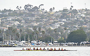 San Diego, California. USA. Crews passing back to the boating area and crews making their way to the start.   2013 Crew Classic Regatta, Mission Bay.  09:04:07.  Saturday  06/04/2013   [Mandatory Credit. Peter Spurrier/Intersport Images]  ..