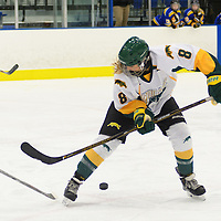 4th year forward Bailey Braden (8) of the Regina Cougars in action during the Women's Hockey Home Game on October 15 at Co-operators arena. Credit: Arthur Ward/Arthur Images
