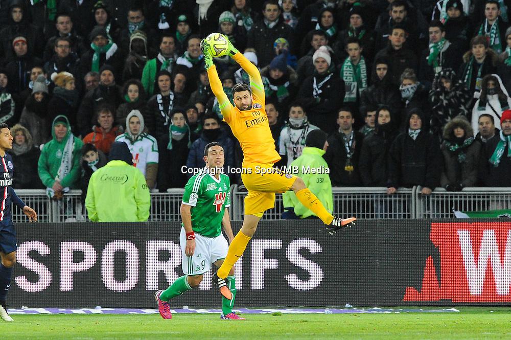 Salvatore SIRIGU - 25.01.2015 - Saint Etienne / PSG - 22eme journee de Ligue1<br /> Photo : Jean Paul Thomas / Icon Sport