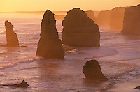 Australia Victoria Great Ocean Road Twelve Apostles at sunset