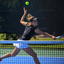 During the third round of the Sun Belt Tennis Tournament at the City Park Tennis Center on Saturday, April 23, 2016. Photo by: Derick E. Hingle for Sun Belt