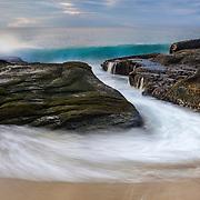 Breaking Wave - Aliso Creek Tide Channel - Sunset