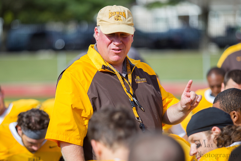 Rowan University Head Coach Jay Jay Accorsi - Rowan University Football vs Framingham State University at Richard Wacker Stadium in Glassboro, NJ on Saturday September 14, 2013. (photo / Mat Boyle)