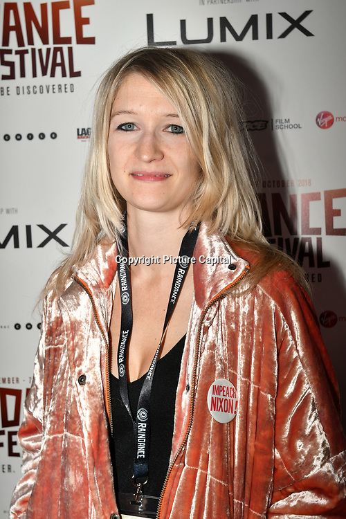 Director Kate Mcmullen - Comme Les Roses attend 'Souls of Totality' film at Raindance Film Festival 2018, London, UK. 30 September 2018.