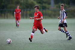 NEWPORT, WALES - Thursday, August 4, 2016: North Wales Academy Boys' James Rutter during the Welsh Football Trust Cymru Cup 2016 at Newport Stadium. (Pic by Paul Greenwood/Propaganda)
