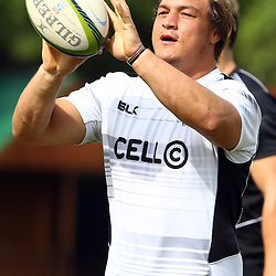 DURBAN, SOUTH AFRICA, Friday 15, January 2016 - Coenie Oosthuizen during The Cell C Sharks Pre Season training Friday 145h January 2016,for the 2016 Super Rugby Season at Growthpoint Kings Park in Durban, South Africa. (Photo by Steve Haag)<br /> images for social media must have consent from Steve Haag