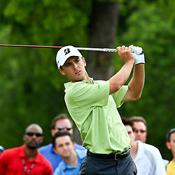2009 April 26: Charles Howell III of Orlando, FL tee's off from the 15th hole during the final round of the Zurich Classic of New Orleans PGA Tour golf tournament played at TPC Louisiana in Avondale, Louisiana.