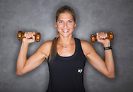 Gabby Reece poses for a portrait before teaching a HIGHX class at the 24 Hour Fitness on Saturday, June 27, 2015 in Pearland, TX.<br /> (PhotoFor the Chronicle by Thomas B. Shea)